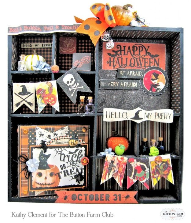 Authentique Masquerade Altered Printer's Tray by Kathy Clement Kathy by Design Photo 01