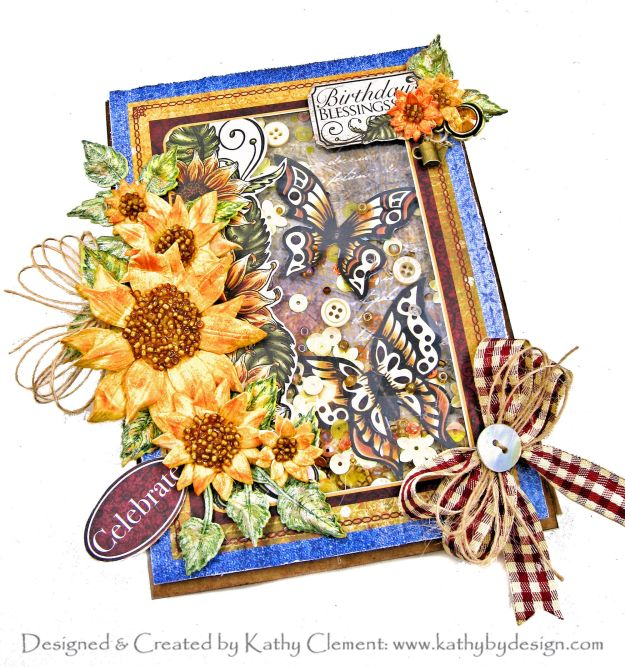 Sunflowers and Butterflies Heartfelt Creations Classic Sunflower for the Alumni Hop by Kathy Clement Kathy by Design Photo 01