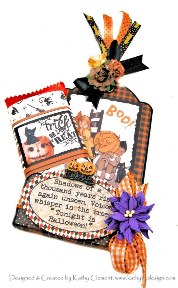 Authentique Masquerade Halloween treat Tags by Kathy Clement Kathy by Design Photo 01