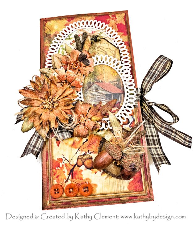 Spellbinders Autumn Flora by Susan Tierney-Cockburn Ciao Bella Sound of Autumn Tall & Skinny Folio by Kathy Clement Kathy by Design Photo 01