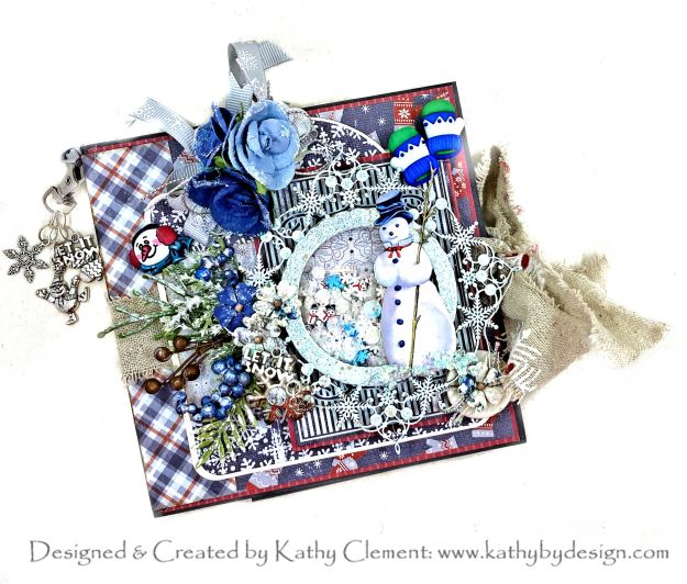Authentique Wintery Let it Snow Flip Folio Tutorial by Kathy Clement Kathy by Design for Throwback Thursday Photo 01