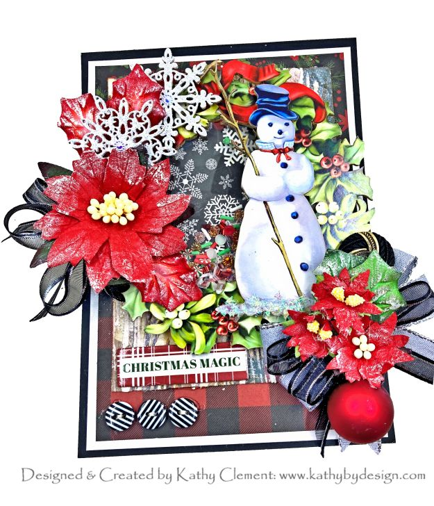 Reneabouquets Beautiful Board Snowman Wreath Shaker Card Carta Bella Christmas by Kathy Clement Kathy by Design Photo 01