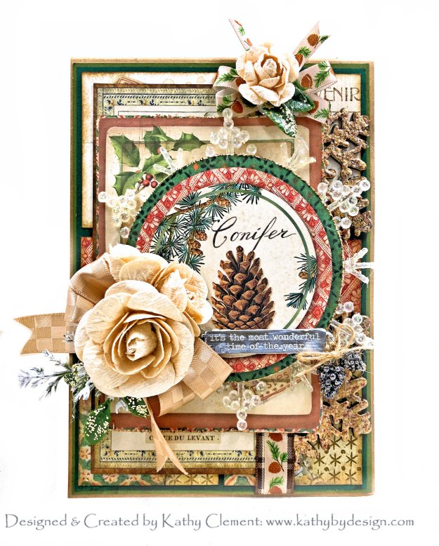 Stamperia Winter Botanic Card by Kathy Clement Photo 01