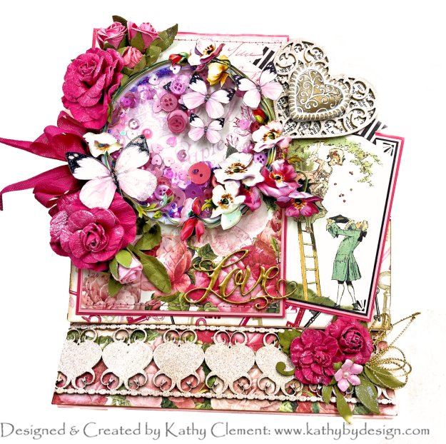 Authentique Adore Shaker Easel Card by Kathy Clement Photo 01