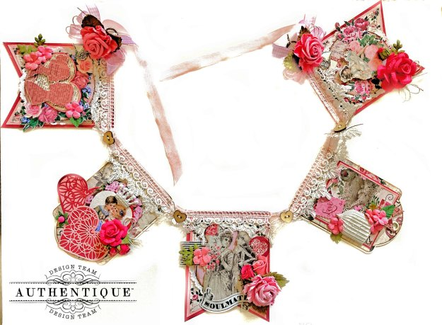 Authentique Romance Valentine's Day Banner by Kathy Clement Kathy by Design Photo 01