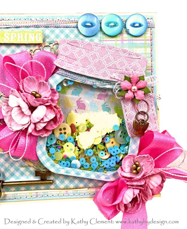 Authentique Best of Springtime Shaker Card for Really Reasonable Ribbon by Kathy Clement Kathy by Design Photo 01