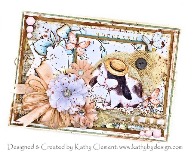 Country Craft Creations Country Bunny Tea Party in a Box Card by Kathy Clement Photo 01
