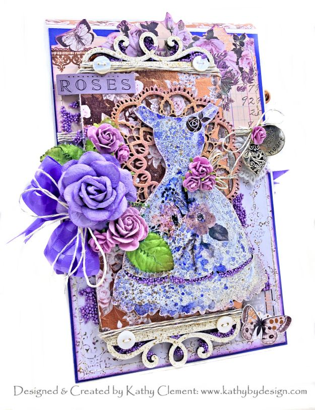 Prima Lavender Party Dress Card Folio for Throwback Thursday Kathy Clement Photo 01
