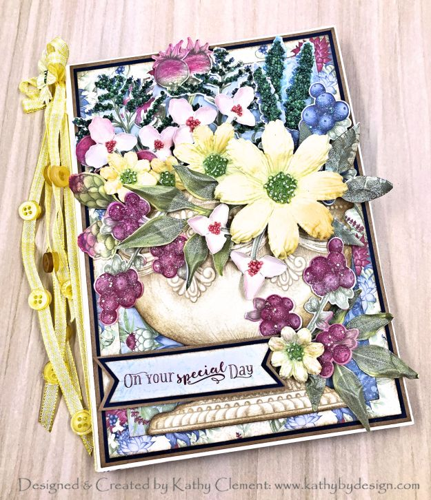 Heartfelt Creations Floral Shoppe Springtime Urn Folio by Kathy Clement Photo 01