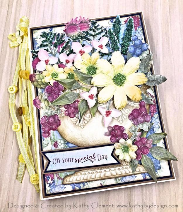 Heartfelt Creations Floral Shoppe Springtime Urn Folio by Kathy Clement Photo 01
