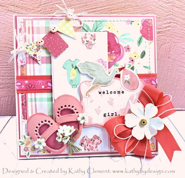 Itty Bitty Baby Shoes Card Folio Kathy Clement Kathy by Design Photo 01
