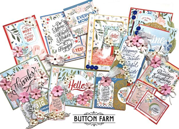 Echo Park Salutations Card Kit by Kathy Clement for The Button Farm Club Photo 01
