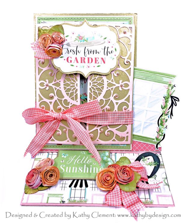 Amazing Paper Grace Dahlia Dimensional Doily Gatefold Easel Card by Kathy Clement Photo 01