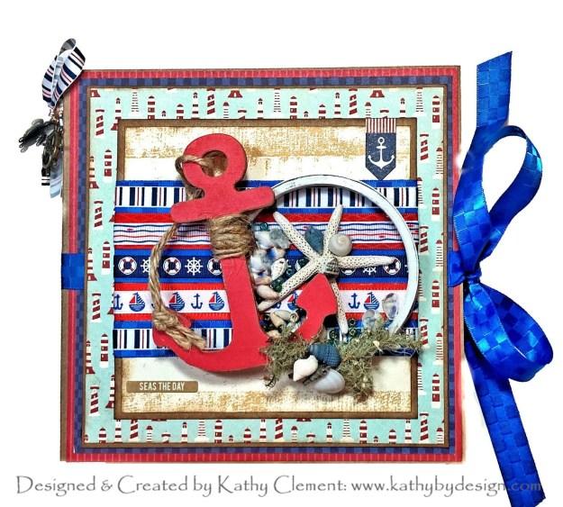 Really Reasonable Ribbon Nautical Americana Ribbon Club Authentique Voyage Flip Folio by Kathy Clement PHoto 01