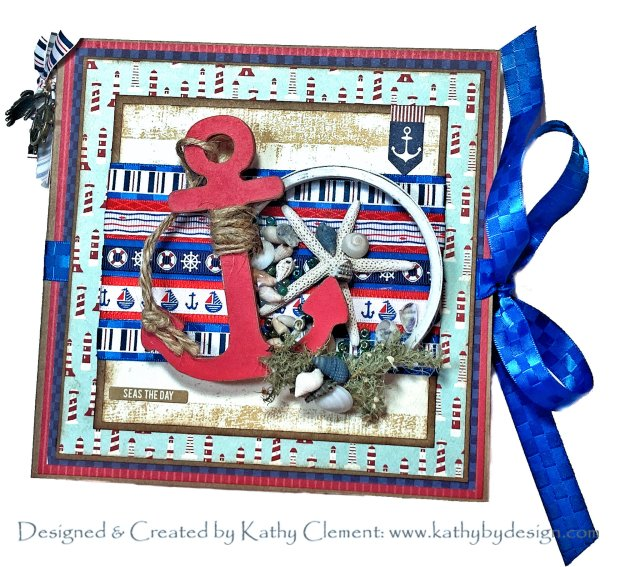 Authentique Voyage Nautical Beach Flip Folio by Kathy Clement for Really Reasonable Ribbon Photo 01