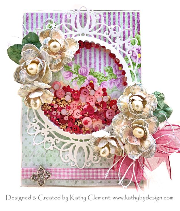 Heartfelt Creations Sweet Magnolia Shaker Card Tutorial by Kathy Clement Photo 01