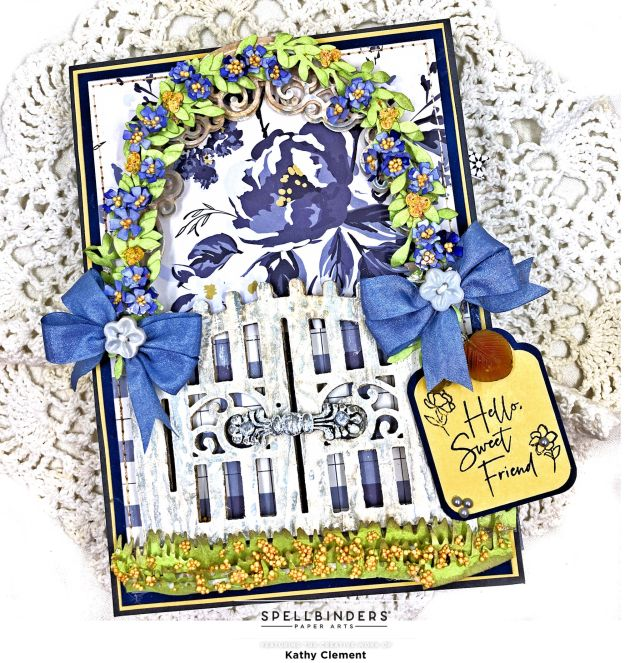 Amazing Paper Grace Mixed Media Garden Gate My Mind's Eye Gingham Foundry by Kathy Clement Photo 01