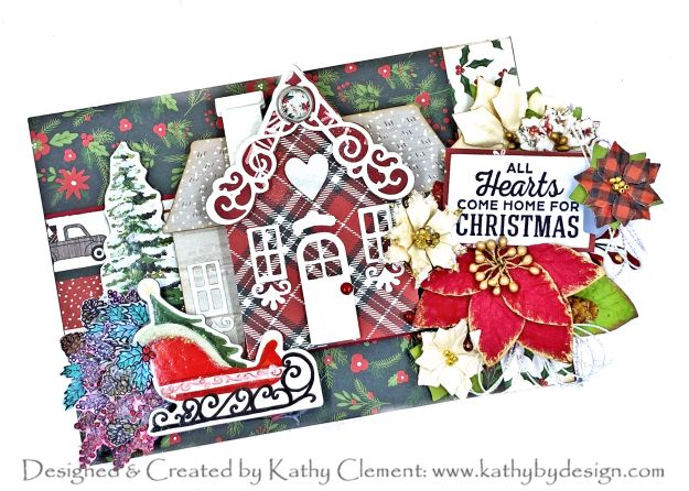 Spellbinders Home for Christmas Card by Kathy Clement Photo 01
