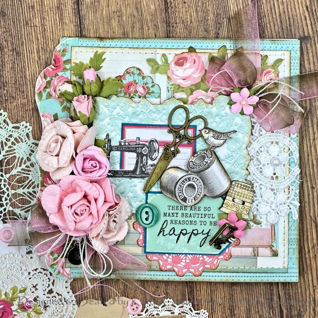 Throwback Thursday Kaisercraft Miss Betty Card by Kathy Clement