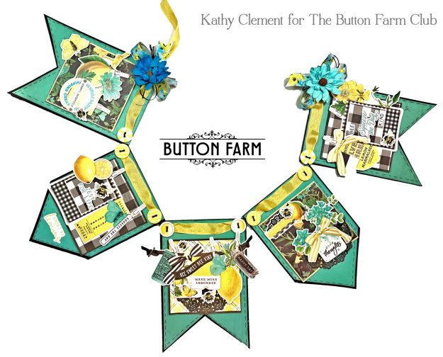 Lemon Twist Banner by Kathy Clement for The Button Farm Club Photo 01