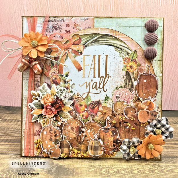 Nichol Spohr Welcome Fall Card Prima Pumpkin and Spice by Kathy Clement Photo 01