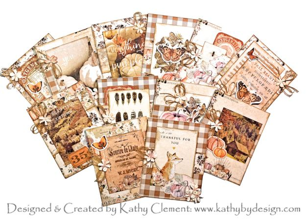 Throwback Thursday Prima Autumn Sunset Stack of Cards Tutorial by Kathy Clement Photo 01