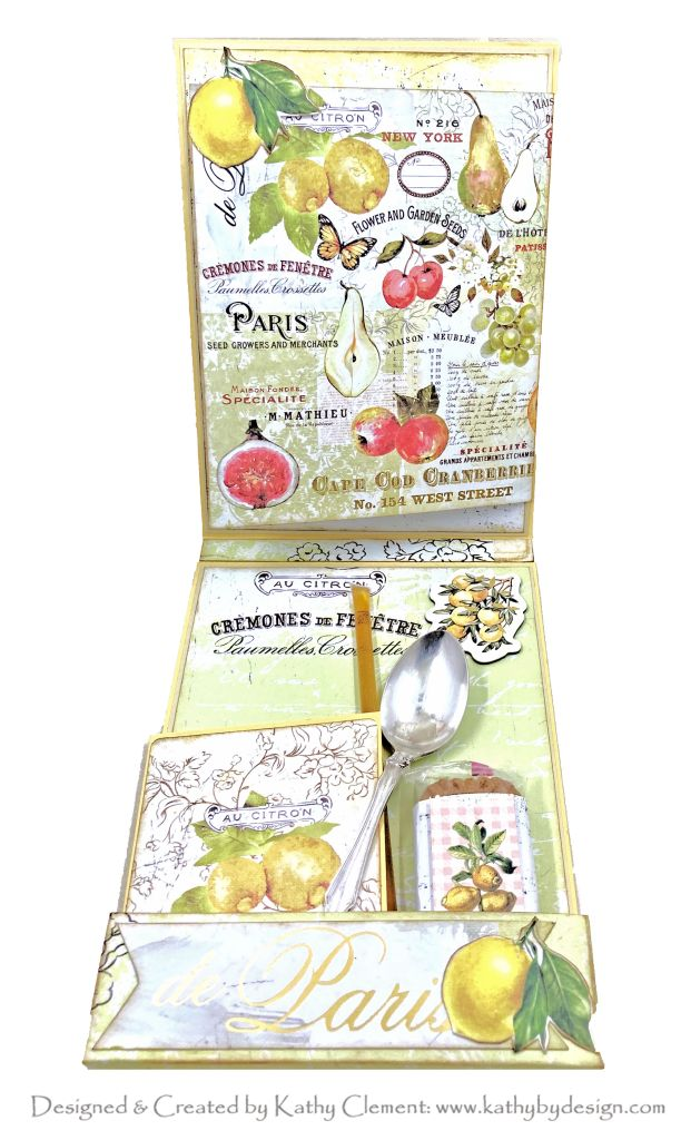 Prima Fruit Paradise Tea Party Card by Kathy Clement Photo 01