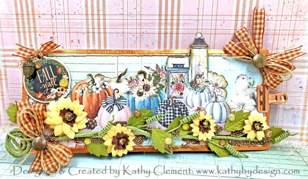 Prima Pumpkin and Spice Slimline Card by Kathy Clement Photo 01