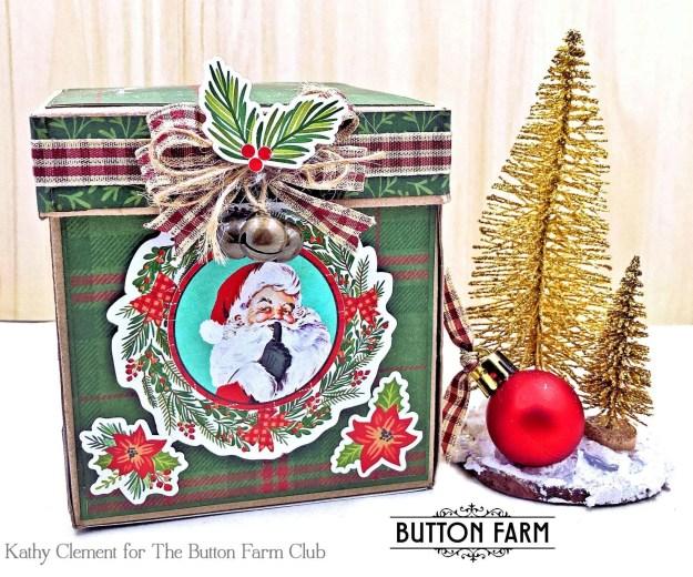 Button Farm Club North Pole Exploding Mini Album Kit Release by Kathy Clement Photo 01