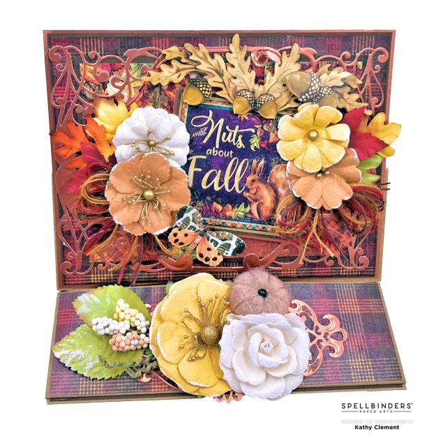 Amazing Paper Grace October 2021 Die of the Month Autumn Card by Kathy Clement Photo 01