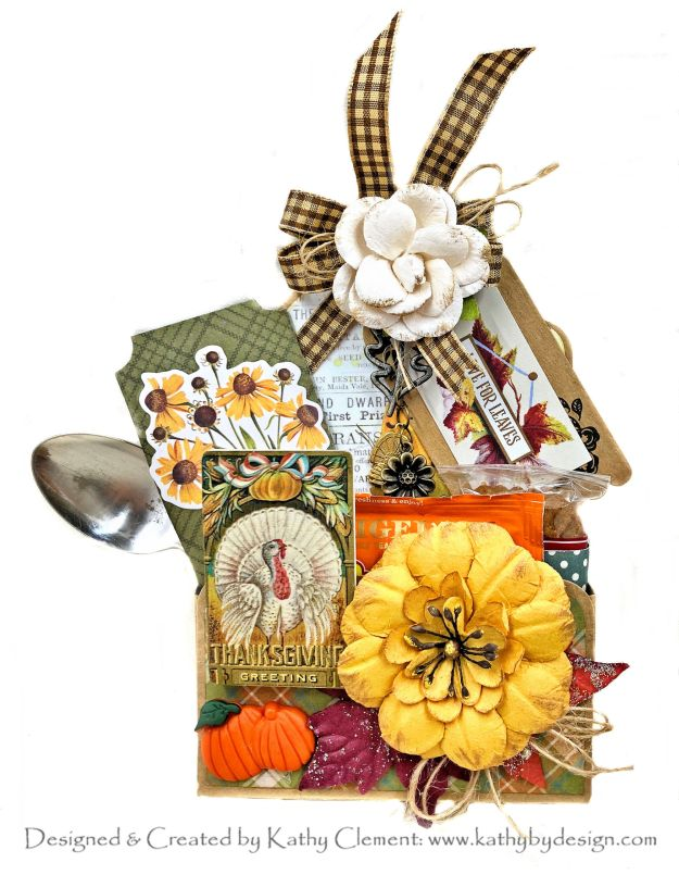 Thanksgiving Treat Tag Tutorial Simple Stories Autumn Splendor by Kathy Clement Photo 02