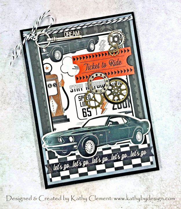 Photoplay Grease Monkey Masculine Card by Kathy Clement PHoto 01