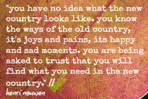 henri nouwen old country new country