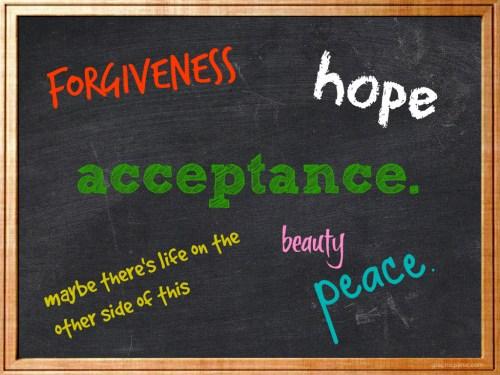 acceptance chalkboard