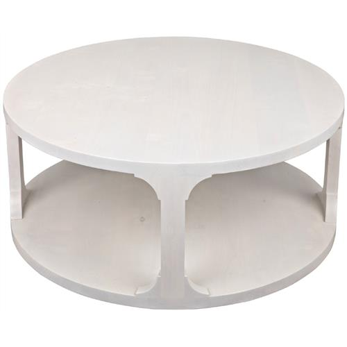 talbot rustic lodge white alder wood round round coffee table small