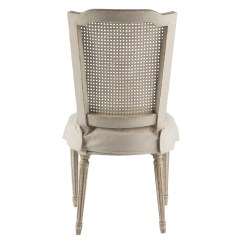 Antique White Dining Chairs Wedding Chair Covers To Hire Pair French Country Slip Cover