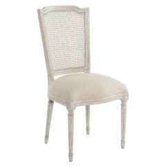Antique White Dining Chairs Dark Walnut Pair French Country Slip Cover Chair