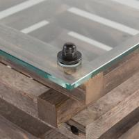 Laura Rustic Lodge Glass Top Log Coffee Table | Kathy Kuo Home
