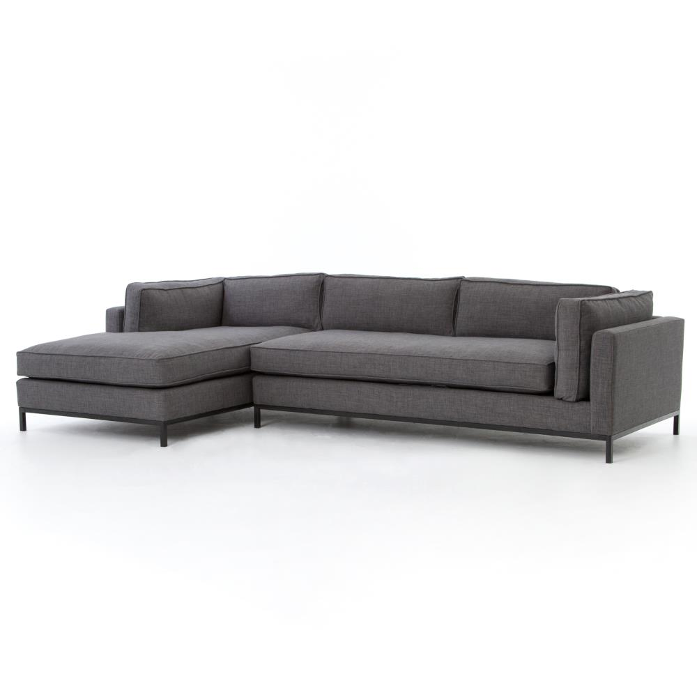 Diorama Mid Century Charcoal Left Arm Chaise Sectional Sofa