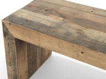 Wynn Modern Rustic Lodge Chunky Reclaimed Wood Bench ...