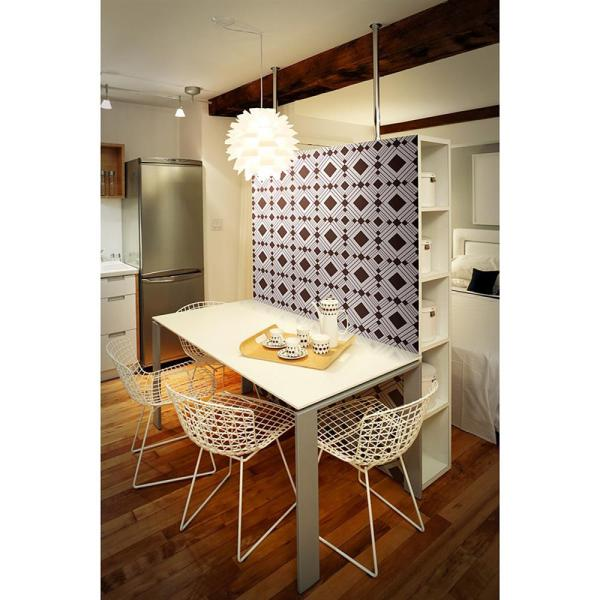 Diamond Modern Classic Brown Silver Geometric Removable Wallpaper Kathy Kuo Home