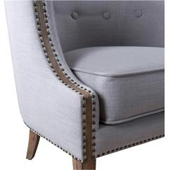 Barrel Back Chair Coleman Folding Chairs Lyla Modern Classic Soft Grey Hammered Kathy Kuo View Full Size