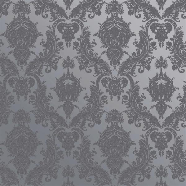 Damask Modern Classic Blue Light Grey Removable Wallpaper Kathy Kuo Home