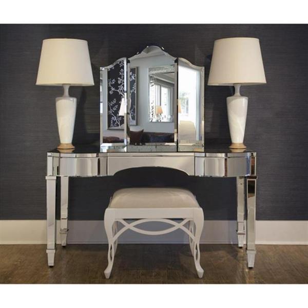 Hollywood Vanity Mirror Desk