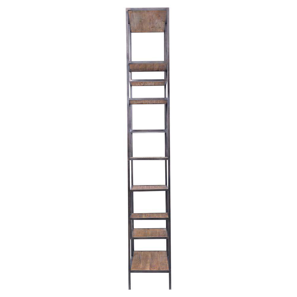 Arnaz Industrial Loft Iron Reclaimed Wood Staggered Shelf