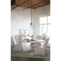 Reine French Country Antique White Rustic Round Dining ...