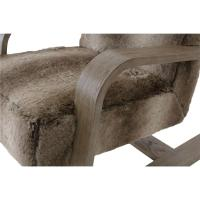 Maiara Rustic Lodge Modern Brown Fur Arm Chair | Kathy Kuo ...