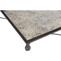 Lala Industrial Regency Antique Silver Mirror Coffee Table ...