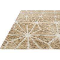 Nodo Coastal Beige Star Jute Wool Rug - 4x6 | Kathy Kuo Home