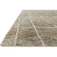 Robar Industrial Rustic Grey Birch Jute Wool Rug - 4x6 ...